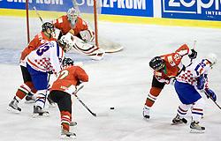 LAZIC Igor of Croatia   at IIHF Ice-hockey World Championships Division I Group B match between National teams of Hungary and Croatia, on April 20, 2010, in Tivoli hall, Ljubljana, Slovenia.  (Photo by Vid Ponikvar / Sportida)