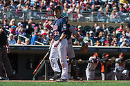 Justin Morneau #33 of the Minnesota Twins reacts after striking out against the Baltimore Orioles on May 12, 2013 at Target Field in Minneapolis, Minnesota.  The Orioles defeated the Twins 6 to 0.  Photo: Ben Krause