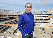 Apr 15, 2019; Inglewood, CA, USA; Los Angeles Rams chief operating officer Kevin Demoff poses at the LA Stadium & Entertainment District construction site. The site will be the home of the Los Angeles Chargers and the Rams, Super Bowl LVI in 2022, the College Football National Championship in 2023 and the opening and closing ceremonies of the 2028 Olympic Games.