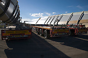 transport of the wings of a wind turbine