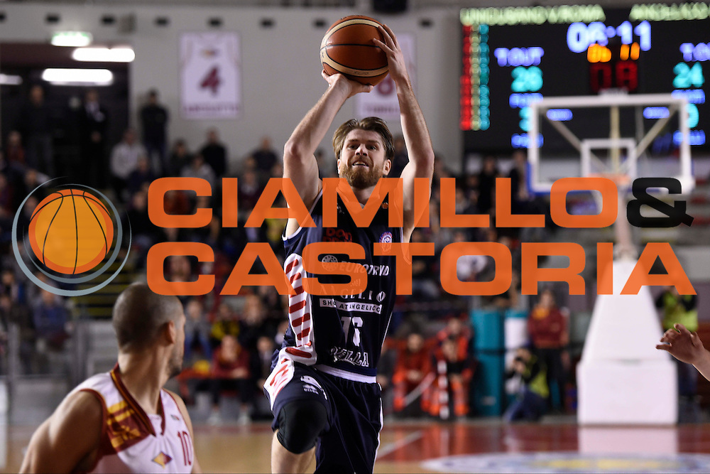 Marco Venuto<br /> Unicusano Roma - Angelico Biella<br /> Campionato Basket LNP 2016/2017<br /> Roma 29/01/2017<br /> Foto Ciamillo-Castoria