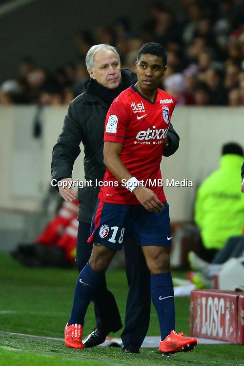 Franck BERIA / Rene GIRARD  - 24.01.2015 - Lille / Monaco - 22eme journee de Ligue1<br />Photo : Dave Winter / Icon Sport