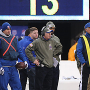 Tom Coughlin, New York Giants, Head Coach, on the sideline during the New York Giants V San Francisco 49ers, NFL American Football match at MetLife Stadium, East Rutherford, NJ, USA. 16th November 2014. Photo Tim Clayton