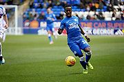 Peterborough Utd midfielder Siriki Dembélé (10) on the ball during the EFL Sky Bet League 1 match between Peterborough United and Rochdale at London Road, Peterborough, England on 12 January 2019.