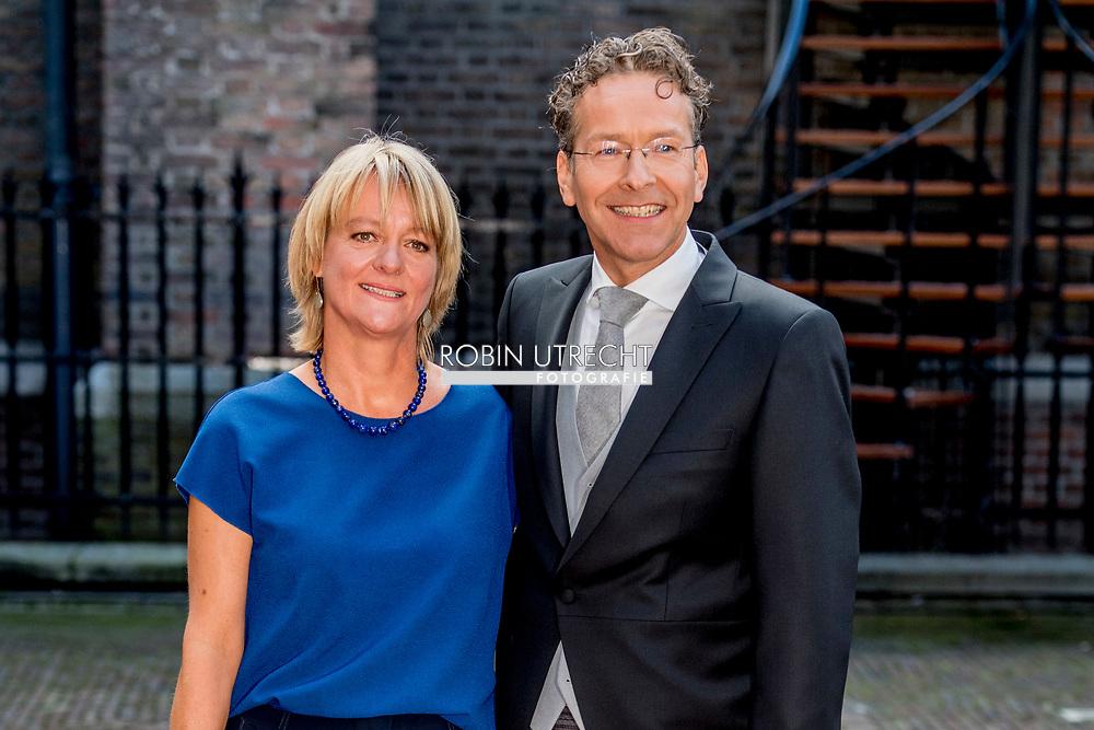 den haag Minister Dijsselbloem  met zijn vrouw ROBIN UTRECHT