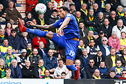 Cardiff City midfielder Nathaniel Mendez-Laing (19) controls the ball during the EFL Sky Bet Championship match between Norwich City and Cardiff City at Carrow Road, Norwich, England on 14 April 2018. Picture by Phil Chaplin.
