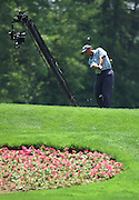 Jun 26, 2006; Gaylord MI; Chris DiMarco tees off on the first hole of the ING Par-3 Shootout at Treetops Resort in Gaylord Michigan.
