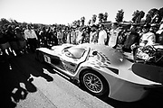 October 11-13, 2018: IMSA Weathertech Series, Petit Le Mans: IMSA Drivers photo with the Panoz prototype