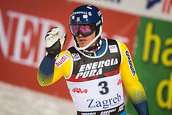 """Andre Myhrer (SWE) during FIS Alpine Ski World Cup 2016/17 Men's Slalom race named """"Snow Queen Trophy 2017"""", on January 5, 2017 in Course Crveni Spust at Sljeme hill, Zagreb, Croatia. Photo by Ziga Zupan / Sportida"""