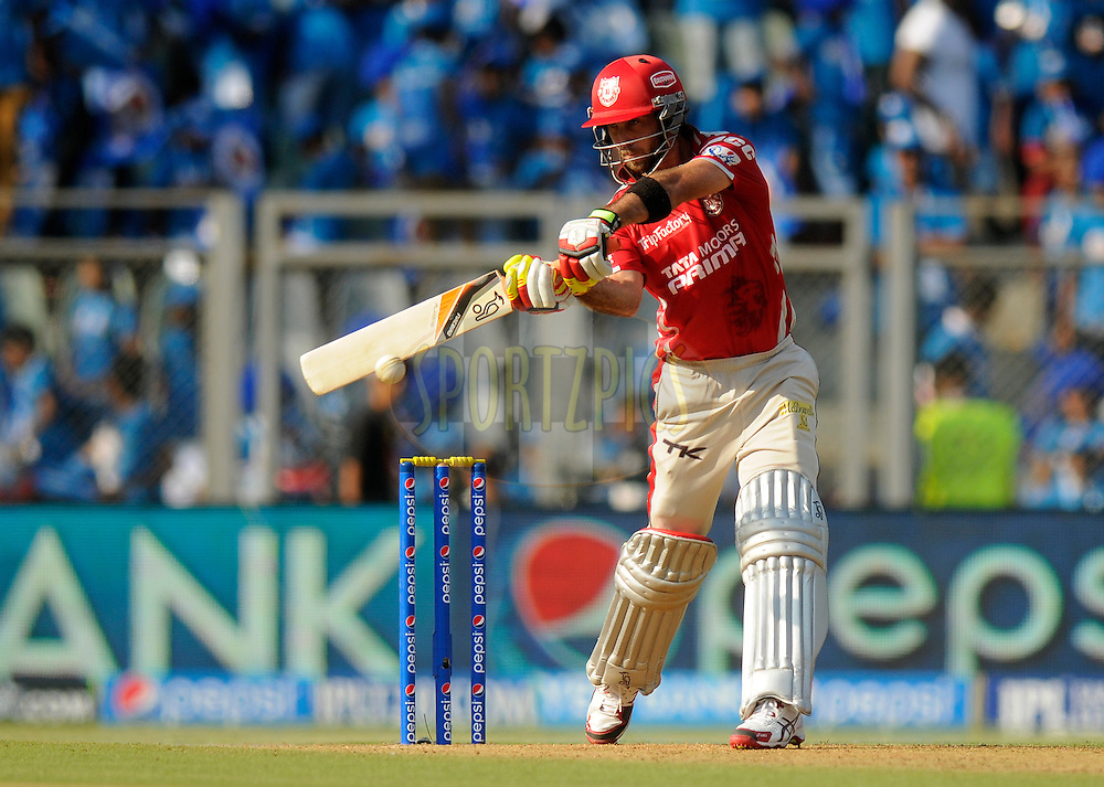 Glenn Maxwell of the Kings X1 Punjab bats during match 22 of the Pepsi Indian Premier League Season 2014 between the Mumbai Indians and the Kings XI Punjab held at the Wankhede Cricket Stadium, Mumbai, India on the 3rd May  2014<br /> <br /> Photo by Pal Pillai / IPL / SPORTZPICS<br /> <br /> <br /> <br /> Image use subject to terms and conditions which can be found here:  http://sportzpics.photoshelter.com/gallery/Pepsi-IPL-Image-terms-and-conditions/G00004VW1IVJ.gB0/C0000TScjhBM6ikg