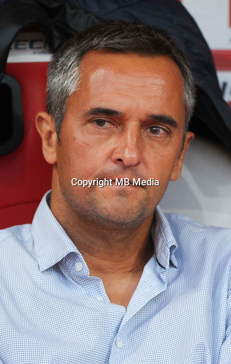 Jean Luc Vannuchi coach of Gazelec Ajaccio during the French Ligue 2 match between Stade de Reims and Gazelec Ajaccio at Stade Auguste Delaune on September 9, 2016 in Reims, France. ( Photo by Andre Ferreira / Icon Sport )