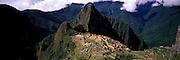 PERU, PREHISPANIC, INCA Machu Picchu; and Huayna Picchu