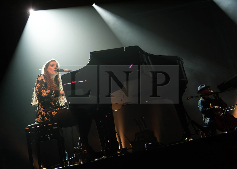 """© Licensed to London News Pictures. 04/03/2014. London, UK.   Birdy performing live at The Forum. Birdy (real name Jasmine van den Bogaerde), is an English musician who was nominated in the 2014 Brit Awards in the """"British Female Solo Artist"""" category.  She  won the music competition Open Mic UK in 2008 and is promoting her second album """"Fire Within"""".   Photo credit : Richard Isaac/LNP"""