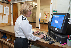 Female prison officer, UK prison