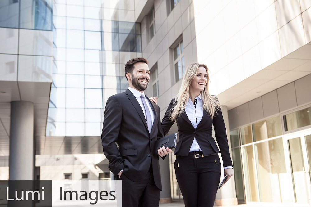 Business, Men, Women, Laughing, Cheerful, Togetherness,