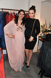 Left to right, CARMEN HAID and CAMILLA AL FAYED  at a dinner hosted by Carmen Haid at Atelier Mayer, 47 Kendal Street, London W2 on 21st February 2012.