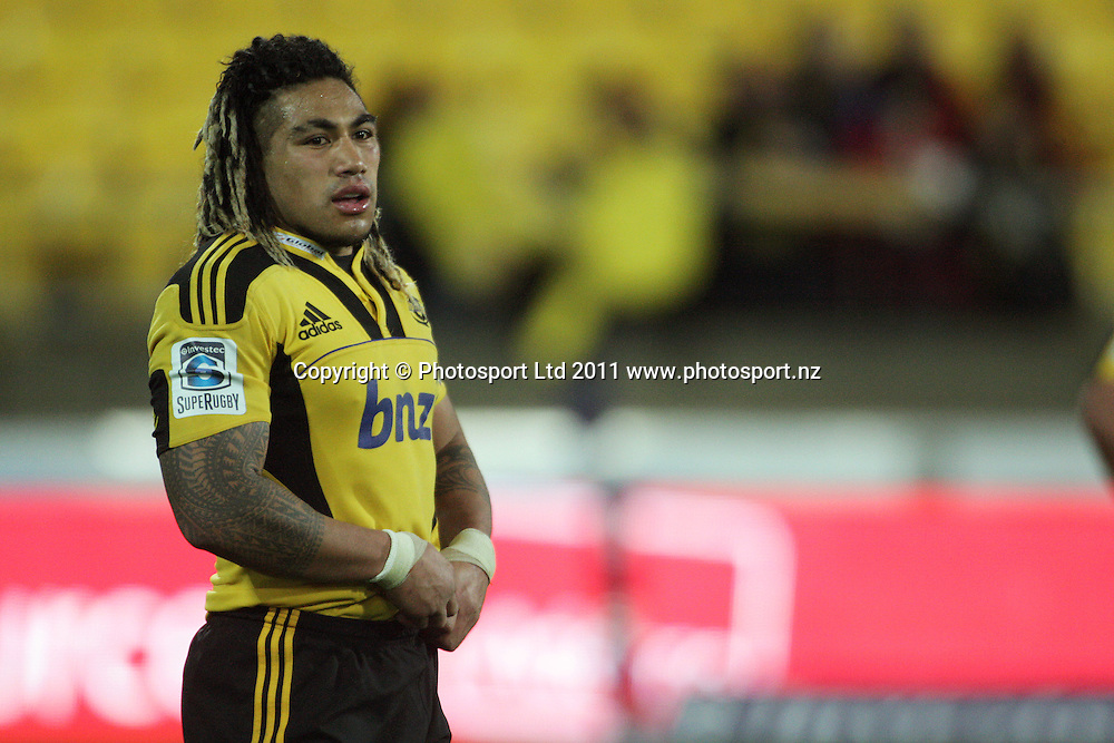 Ma'a Nonu. Super 15 rugby match - Crusaders v Hurricanes at Westpac Stadium, Wellington, New Zealand on Saturday, 18 June 2011. Photo: Dave Lintott / photosport.co.nz