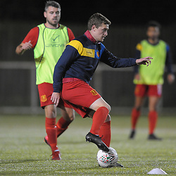 TELFORD COPYRIGHT MIKE SHERIDAN Nick Rushton of Newtown (formerly of Cefn Druids) during the Cymru Premier fixture between Cefn Druids and Newtown AFC at the Rock on Friday, October 11, 2019<br /> <br /> Picture credit: Mike Sheridan/Ultrapress<br /> <br /> MS201920-024