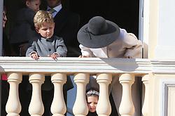 Tatiana Santo Domingo The royal family of Monaco posing at the balcony of the Grimaldi castle for the National Day festivities on November 19th 2019.