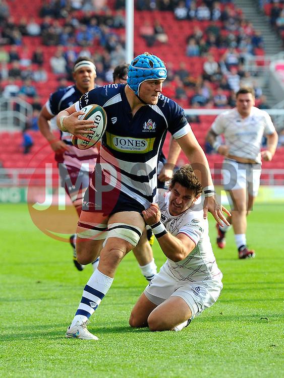 Bristol Rugby Flanker Olly Robinson  - Mandatory byline: Joe Meredith/JMP - 07966386802 - 04/10/2015 - RUGBY - Ashton Gate -Bristol,England - Bristol Rugby v Rotherham Titans - Greene King IPA Championship