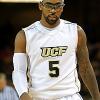 Marcus Jordan (5) of the University of Central Florida Knights mens basketball team relaxes against the West Florida Argonauts in the first home game of the 2010 season at the UCF Arena on November 12, 2010 in Orlando, Florida. UCF won the game 115-61. (AP Photo/Alex Menendez)