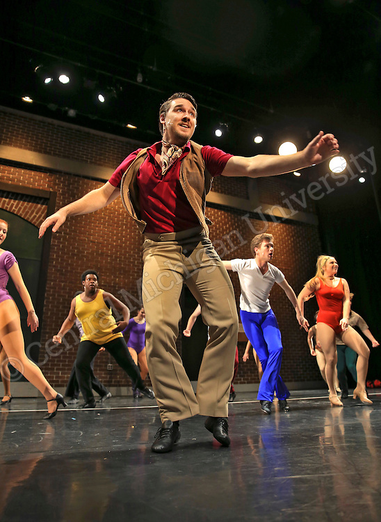 "CCFA- Dress rehearsal of  ""A Chorus Line"" on the campus of Central Michigan University.   Central Michigan University photos by Steve Jessmore"