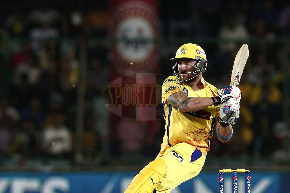 Brendon McCullum of The Chennai Superkings in action during match 26 of the Pepsi Indian Premier League Season 2014 between the Delhi Daredevils and the Chennai Superkings held at the Ferozeshah Kotla cricket stadium, Delhi, India on the 5th May  2014<br /> <br /> Photo by Deepak Malik / IPL / SPORTZPICS<br /> <br /> <br /> <br /> Image use subject to terms and conditions which can be found here:  http://sportzpics.photoshelter.com/gallery/Pepsi-IPL-Image-terms-and-conditions/G00004VW1IVJ.gB0/C0000TScjhBM6ikg