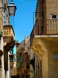 MALTA GOZO VICTORIA 21JUL06 - A narrow and windy alleyway in the old part of Rabat, now called Victoria, Gozo's capital city...jre/Photo by Jiri Rezac..© Jiri Rezac 2006..Contact: +44 (0) 7050 110 417.Mobile:  +44 (0) 7801 337 683.Office:  +44 (0) 20 8968 9635..Email:   jiri@jirirezac.com.Web:    www.jirirezac.com