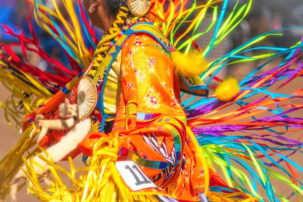 Fancy Dancer at Navajo Nation Fair Pow Wow in Window Rock, Arizona