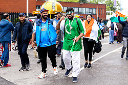 India and Pakistan fans during the Cricket World Cup 2019 - Mandatory by-line: Robbie Stephenson/JMP - 16/06/2019 - CRICKET- Old Trafford - Manchester, England - India v Pakistan - ICC Cricket World Cup 2019 group stage
