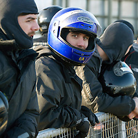St Johnstone Manager Steve Lomas takes his players Go-Karting....<br /> Lee Croft watches his team mates race<br /> Picture by Graeme Hart.<br /> Copyright Perthshire Picture Agency<br /> Tel: 01738 623350  Mobile: 07990 594431