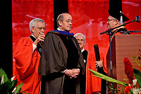 David Christian receives his honorary degree.