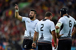 Florin Vlaicu of Romania speaks to his team-mates - Mandatory byline: Patrick Khachfe/JMP - 07966 386802 - 06/10/2015 - RUGBY UNION - Leicester City Stadium - Leicester, England - Canada v Romania - Rugby World Cup 2015 Pool D.