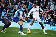 Peterborough United forward Ivan Toney (17) keeps the ball in play during the EFL Sky Bet League 1 match between Wycombe Wanderers and Peterborough United at Adams Park, High Wycombe, England on 3 November 2018.