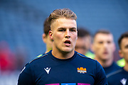 Duhan van der Merwe (#11) of Edinburgh Rugby during the warm up before the European Rugby Challenge Cup match between Edinburgh Rugby and SU Agen at BT Murrayfield, Edinburgh, Scotland on 18 January 2020.