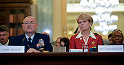 May 18,2010 - Washington, District of Columbia USA - Coast Guard Commandant Adm. Thad Allen and Jane Lubchenco, administrator of the National Oceanic and Atmospheric Administration appear before the Senate Commerce, Science and Transportation Committee for a hearing on the response to the accident involving the Deepwater Horizon in the Gulf of Mexico.(Credit Image: © Pete Marovich/ZUMA Press)