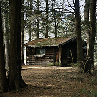 Remote hermitage cabin on the grounds of St Joseph's Abbey, Trappist, Cistercian, Spencer, Massachusetts, USA