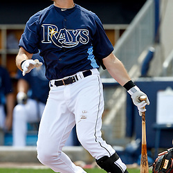 March 21, 2012; Port Charlotte, FL, USA; Tampa Bay Rays third baseman Evan Longoria (3) against the New York Yankees during a spring training game at Charlotte Sports Park.  Mandatory Credit: Derick E. Hingle-US PRESSWIRE