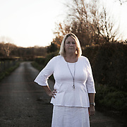 Barbara Richardson. Photographed at her home in Roseacre, near a proposed Cuadrilla fracking site. From 'the Walk for Calm - the Women in White of Lancashire'