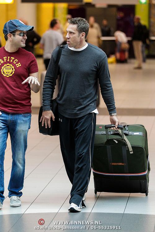 NLD/Amsterdam/20120627 - Acteur Gary Daniels arriveert op Schiphol voor een bezoek aan Nederland,