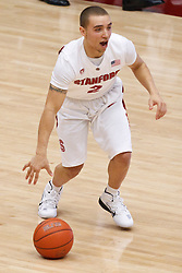 December 15, 2010; Stanford, CA, USA;  Stanford Cardinal guard Aaron Bright (2) dribbles up court against the North Carolina A&T Aggies during the second half at Maples Pavilion.  Stanford defeated North Carolina A&T 76-59.