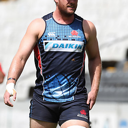 David McDuling of the NSW Waratahs during the NSW Waratahs Cap Run at  Growthpoint Kings Park Durban , South Africa. March 9th 2017(Photo by Steve Haag)<br /> <br /> images for social media must have consent from Steve Haag