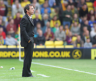 Picture by David Horn/Focus Images Ltd +44 7545 970036<br /> 28/09/2013<br /> Gianfranco Zola Manager of Watford looks on during the Sky Bet Championship match at Vicarage Road, Watford.