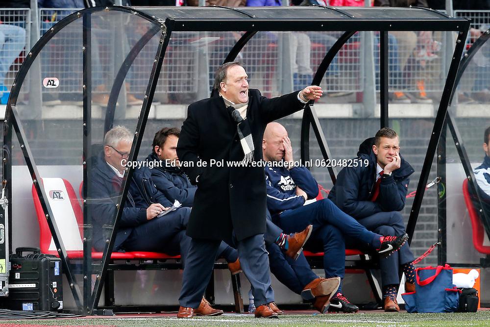 ALKMAAR - 23-03-2014, voetbal, eredivisie, AZ - PEC Zwolle, AFAS Stadion, 2-1, AZ trainer Dick Advocaat.