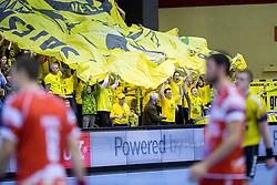 Saleski grascaki, fans of Gorenje during handball match between RK Gorenje Velenje (SLO) vs Chambery Savoie HB (FRA) in 6th Round of Group C of EHF Champions League 2012/13 on November 24, 2012 in Red hall, Velenje, Slovenia. Gorenje Velenje defeated Chambery 31-25. (Photo By Vid Ponikvar / Sportida)
