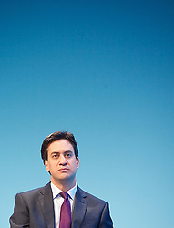 The Labour Leader Ed Miliband on stage listening to The Leader of the Scottish Labour Party Leader Johann Lamont on Day one of the Labour Party Conference at the Brighton Conference Centre, Brighton, United Kingdom. Sunday, 22nd September 2013. Picture by Elliott Franks / i-Images