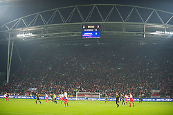 UTRECHT, THE NETHERLANDS - Thursday, September 30, 2010: The scoreboard records Liverpool's goal-less draw with FC Utrecht during the UEFA Europa League Group K match at the Stadion Galgenwaard. (Photo by David Rawcliffe/Propaganda)