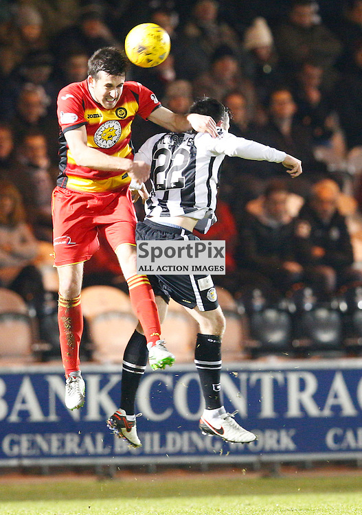 St.Mirren v Partick Thistle, Scottish Cup 4th round....Callum Booth and Calum Gallagher battle for the ball.....(c) STEPHEN LAWSON | SportPix.org.uk