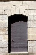 Traditional doorway in town of Bourdeilles near Brantome in Northern Dordogne, France