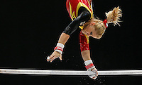 Elisabeth Seitz of Germany competes on the Uneven Bars during the women's all around final at the Artistic Gymnastics World Championships in Antwerp, Belgium, 04 October 2013.